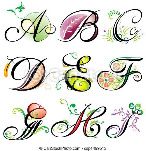 a-i, alphabets, éléments - csp1499513