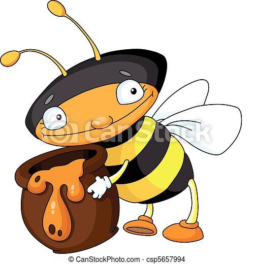 abeille miel - csp5657994