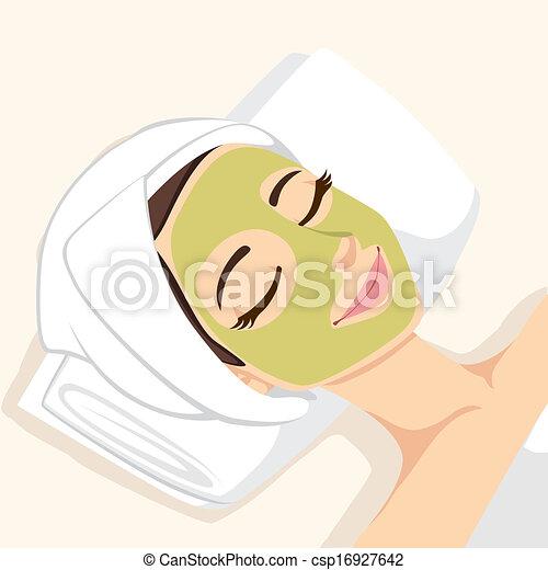 acné, masque, traitement, facial - csp16927642