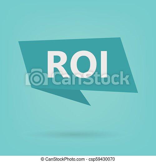 acronyme, roi, autocollant, (return, investment) - csp59430070
