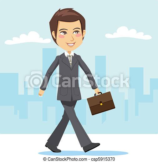 actif, homme affaires, jeune - csp5915370