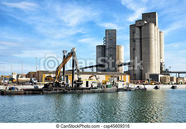 activités, commerce, port, mer - csp45609316
