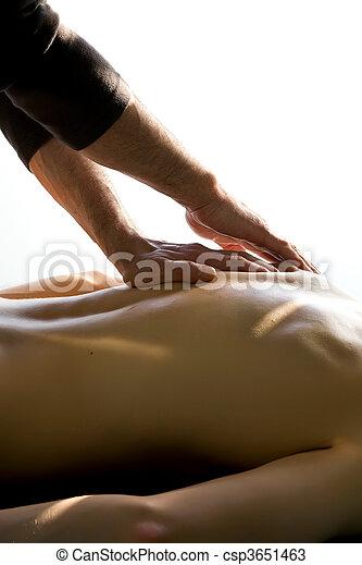 acupuncture, masage - csp3651463