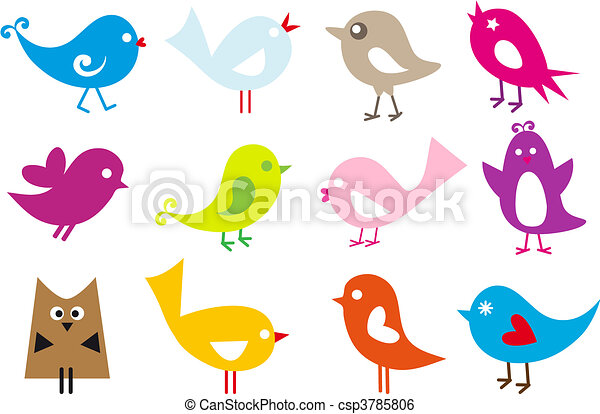 agréable, oiseaux - csp3785806