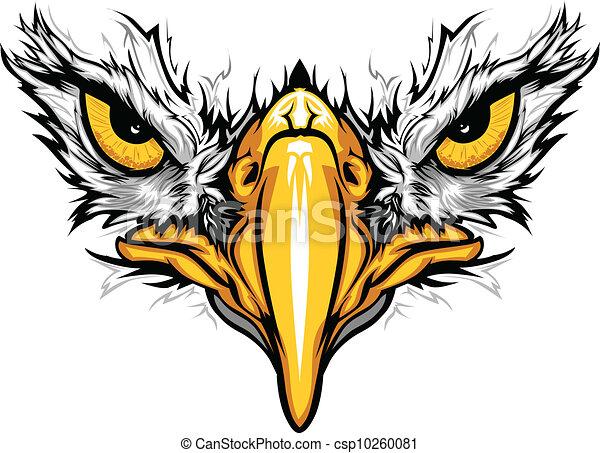 aigle, yeux, vecteur, illustration, bec - csp10260081