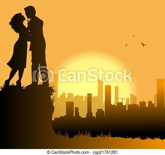 aimer couple, ville - csp21761281