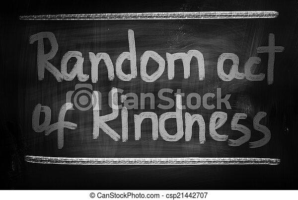 aléatoire, gentillesse, concept, acte - csp21442707