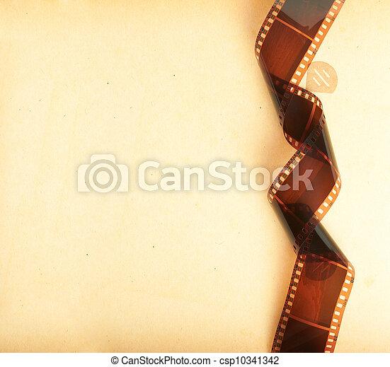album, photo, retro, fond, filmstrip - csp10341342