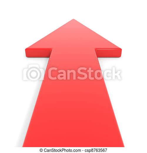 aller, forward., flèche rouge - csp8763567