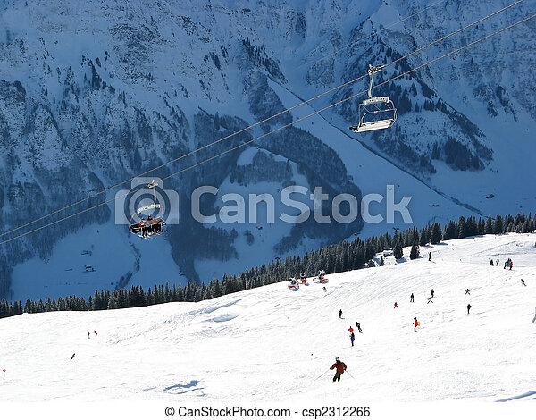 alpes suisses, ski - csp2312266
