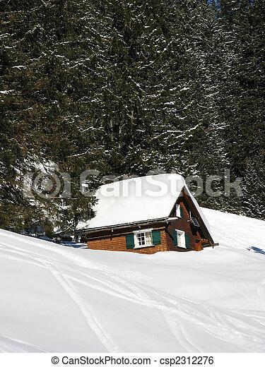 alpes suisses, ski - csp2312276