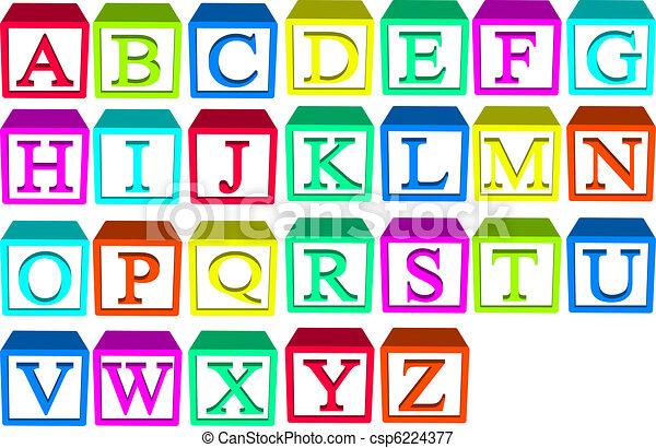 alphabet bloque - csp6224377