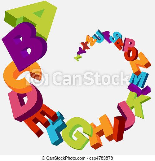alphabet, fond - csp4783878