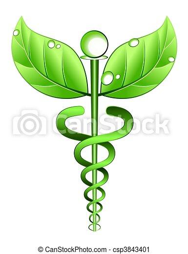 alternative, symbole, médecine - csp3843401
