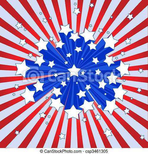 américain, starburst, fond - csp3461305