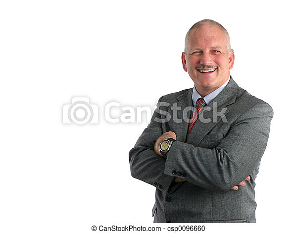 amical, homme affaires - csp0096660