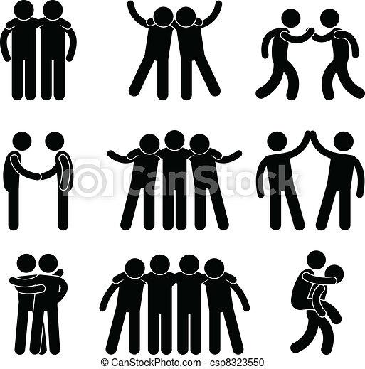 amitié, ami, relation, équipe - csp8323550