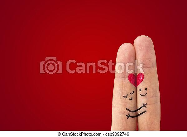 amour, ?, couple, heureux - csp9092746