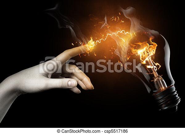 ampoule, éclairé - csp5517186