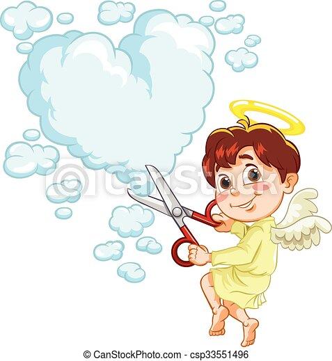 ange, coeur - csp33551496