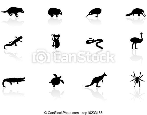 animal australien, icônes - csp10233186