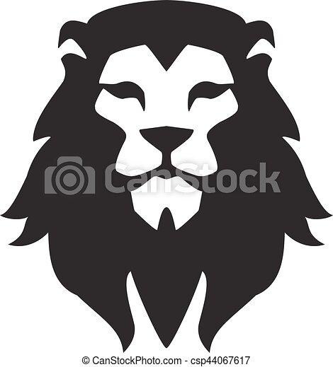 animal, template., symbole, fort, signe., logo, tête, fierté, chat, lion, figure, concept, graphique, sauvage, puissance - csp44067617