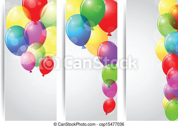 anniversaire, bannière, célébration - csp15477036