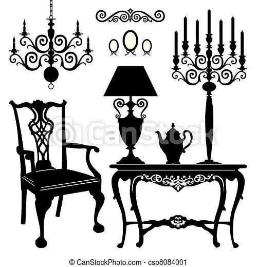 antiquité, meubles - csp8084001