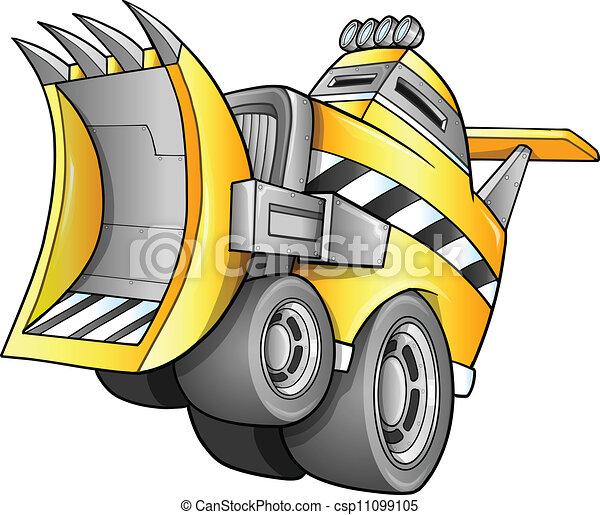 apocalyptique, vecteur, véhicule - csp11099105