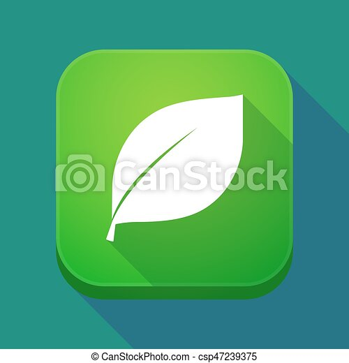app, feuille, ombre, long, icône - csp47239375