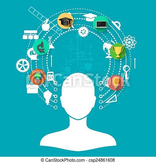 apprentissage, ligne - csp24861608