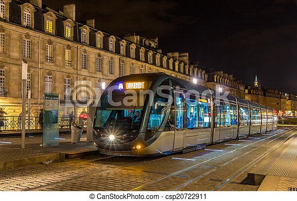 aquitaine, tram, france, -, bordeaux - csp20722911