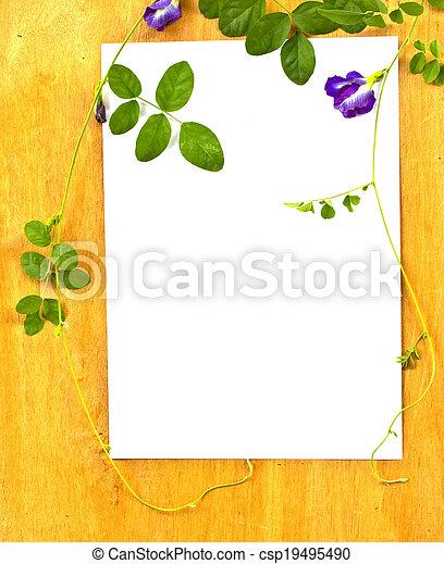 arbre., bois, fixation, concept., papier, fond, conservation, lierre - csp19495490