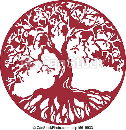 arbre, chêne - csp16619933