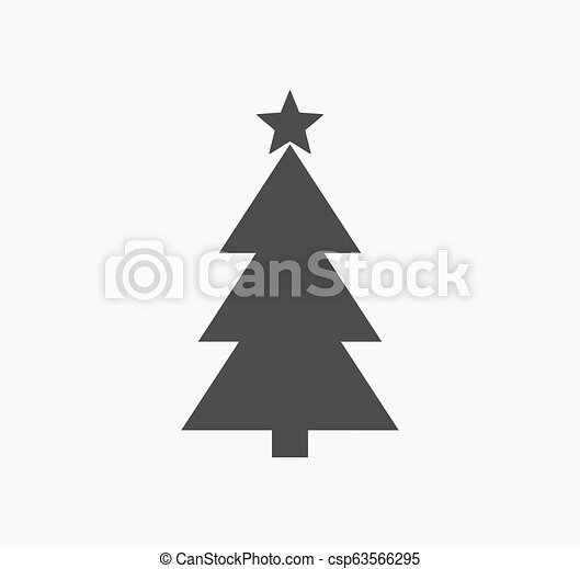 arbre, forme, étoile, noël, icône - csp63566295