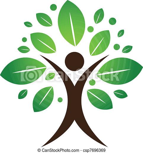 arbre, humain - csp7696369