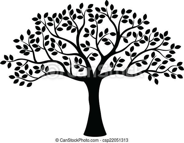 arbre, silhouette - csp22051313