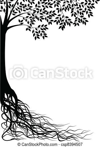 arbre, silhouette - csp8394507