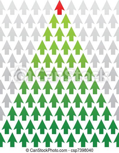 arbre, thème, noël, business, flèche - csp7398040