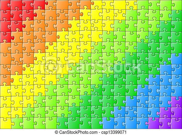 arc-en-ciel, puzzle, puzzle, couleurs - csp13399071