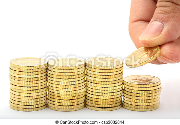 argent, économie, piles - csp3032844
