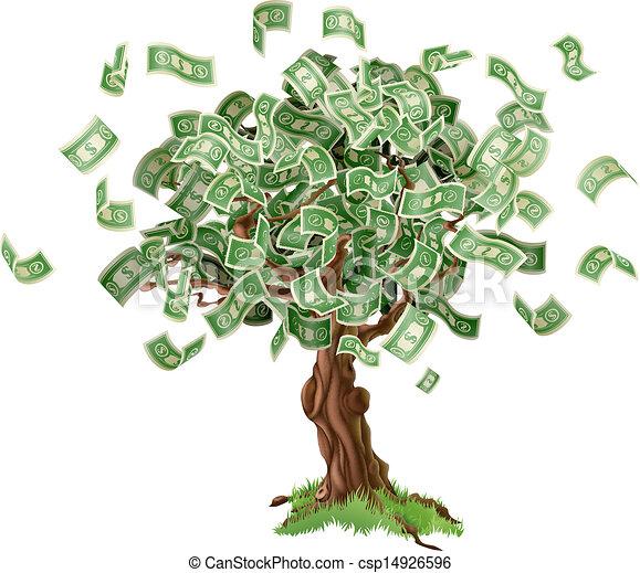argent, économies, arbre - csp14926596
