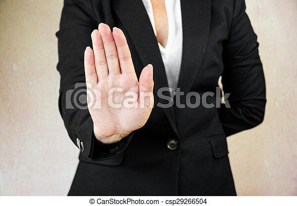 arrêter geste - csp29266504