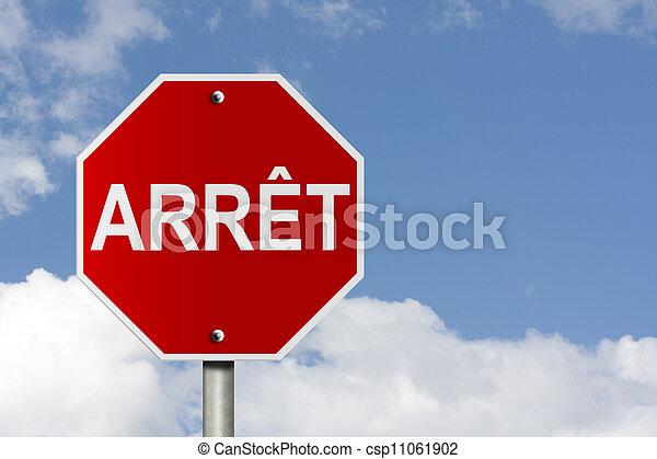 arret, signe - csp11061902