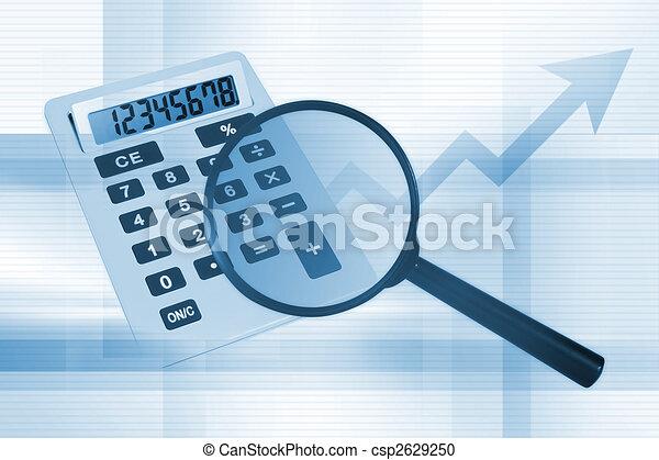 arrière-plan bleu, business - csp2629250