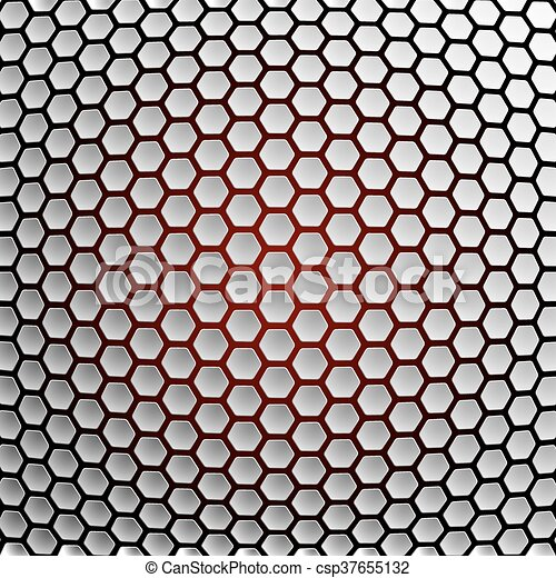arrière-plan., résumé, hexagones - csp37655132