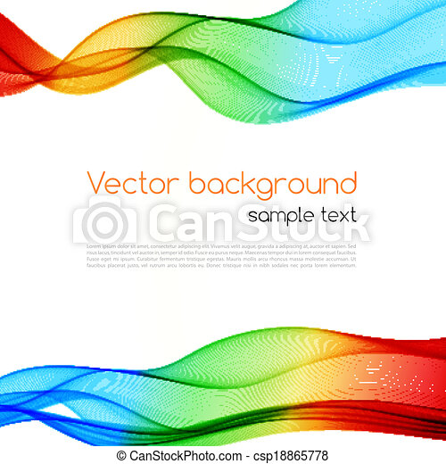 arrière-plan., résumé, wave., coloré, spectre - csp18865778