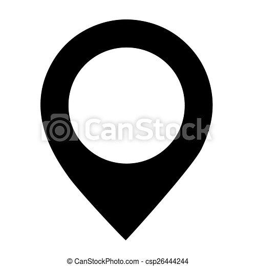 arrière-plan., vecteur, noir, emplacement, blanc, icône - csp26444244