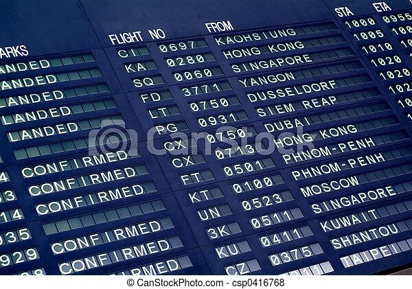 arrivée, aéroport, planche - csp0416768