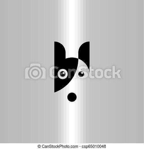 art, agrafe, symbole, chien, vecteur, logo, icône - csp65010048